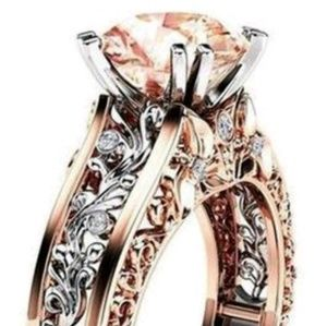 Gorgeous Champagne stone set in Rose Gold ring